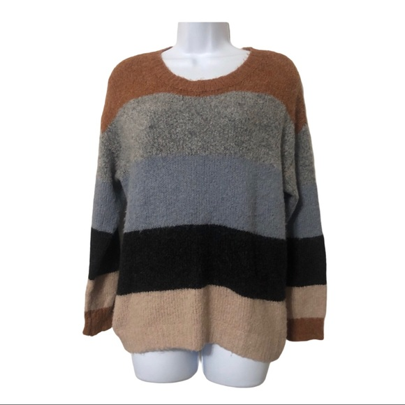 Fashion Nova Striped Colorblock Sweater
